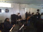 Rehearsing with Stevie Wonder in the tent
